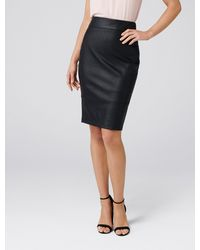 Forever New Alex Petite Pu Pencil Skirt - Black