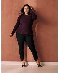 Forever New Claire Curve Split Hem Trousers - Black