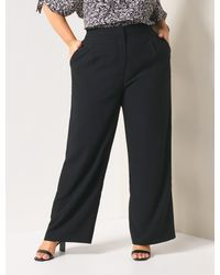 Forever New Jodie Curve Wide-leg Trousers - Black