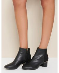 Forever New Vanessa Low Block Boots - Black