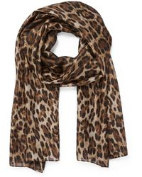 Forever New Betty Leopard Print Scarf - Brown