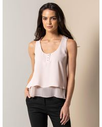 Forever New Demi Double Layer Essential Top - Multicolour