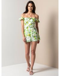 Forever New Brodie Bardot Playsuit - Green