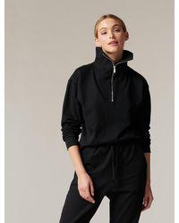 Forever New Archie Loungewear Zip-neck Jumper - Black