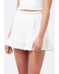 Forever New Lisa Lace Co-ord Shorts - White