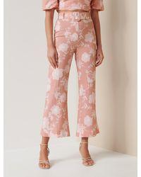 Forever New Amara Linen Blend Pant - Pink