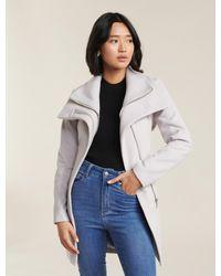 Forever New Penelope Petite Wrap Coat - Grey