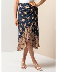 Forever New Maria Sarong Midi Skirt - Blue