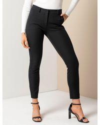 Forever New Sierra Petite Slim Trousers - Black