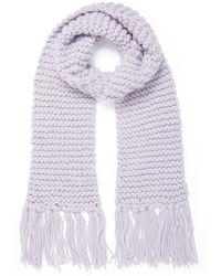 Forever New Nova Chunky Knit Scarf - Purple