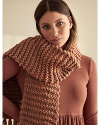 Forever New Nova Chunky Knit Scarf - Brown