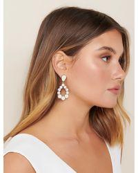 Forever New Serenity Opal Drop Earrings - White