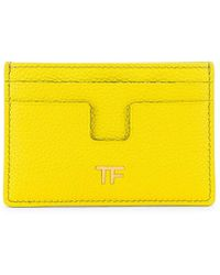 Tom Ford Classic Tf Card Holder - Yellow