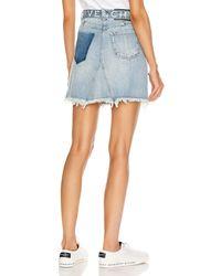 Givenchy Belted Mini Denim Dart Skirt - Blue