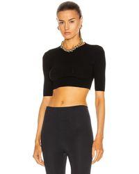 Zeynep Arcay Knit Cropped Top - Black