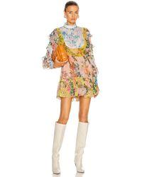 Hemant & Nandita Fluer Mini Dress - Yellow