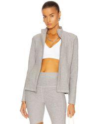 Beyond Yoga On The Go Mock Neck Jacket - Grey