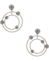 Oscar de la Renta - Beaded Orbit Earrings - Lyst