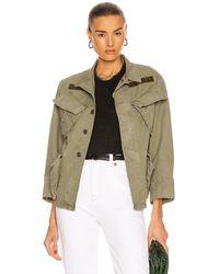 R13 Shrunken Army Jacket - Green