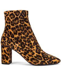 Saint Laurent Lou Booties mit Leoparden-Print - Natur