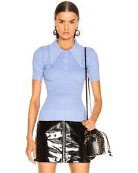 JoosTricot Short Sleeve Rib Polo - Blue