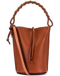 Loewe Gate Bucket Handle Bag - Brown