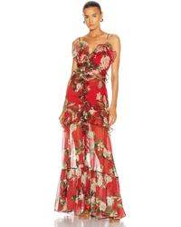 PATBO Floral Convertible Dress - Red