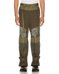 Sacai Fabric Combo Pants - Mehrfarbig