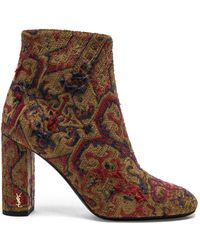 Saint Laurent - Leather Loulou Boots - Lyst
