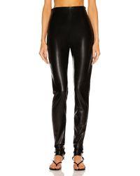 ANDAMANE Hoola Vegan Leather Zipped Legging - Black
