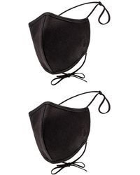 Agolde Two Pack Embroidered Cotton Masks - Schwarz