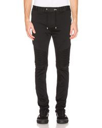 Balmain Ribbed Elastic Chino Pants - Black