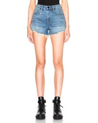 Alexander Wang Bite High Rise Shorts - Blue