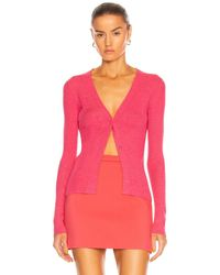 Tom Ford Cashmere Rib Fitted Cardigan - Pink