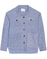 Greg Lauren The Chambray Dress Shirt - Blue