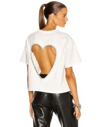 Area Open Heart Relaxed Tee - White