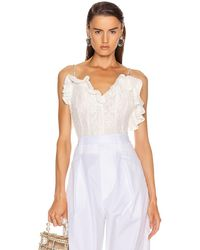 Magda Butrym Harlem Lace Corset Top - White