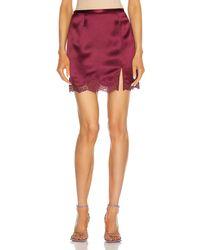Fleur du Mal James Lace Slip Skirt - Multicolor