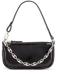 BY FAR Mini Rachel Black Patent Leather Bag