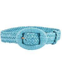 Altuzarra Raffia Belt - Blue