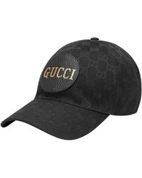 Gucci Gg Canvas Baseball Hat - Black