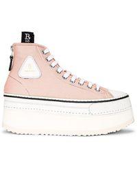 R13 Platform High Top Sneaker - Pink