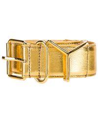 Y. Project Plain Y Belt - Metallic
