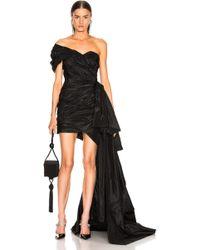 Oscar de la Renta One Shoulder Strapless Dress - Black