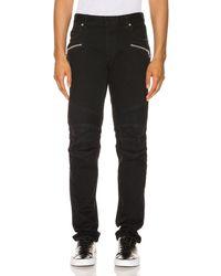 Balmain Ribbed Signature Jeans - Schwarz