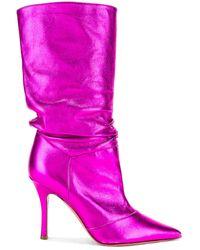 AMINA MUADDI Ida Napa Boot - Pink