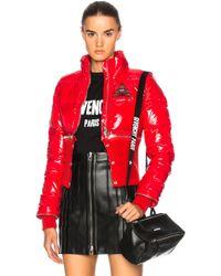 Givenchy Nylon & Knit Parka - Red