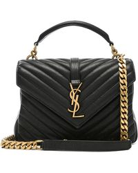 d57bc1b1f1 Lyst - Saint Laurent Small Velvet Monogramme West Hollywood Bag in Black