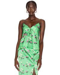 BERNADETTE June Silk Satin Cami Top - Green