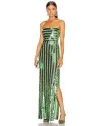 Galvan London Stargaze Bandeau Dress - Green